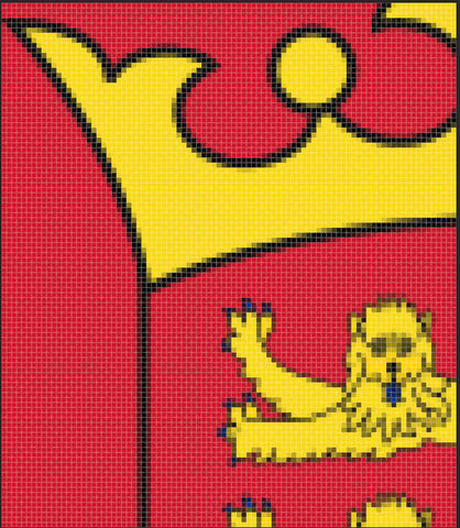 Pixelated crest Red Dragon Flagmakers