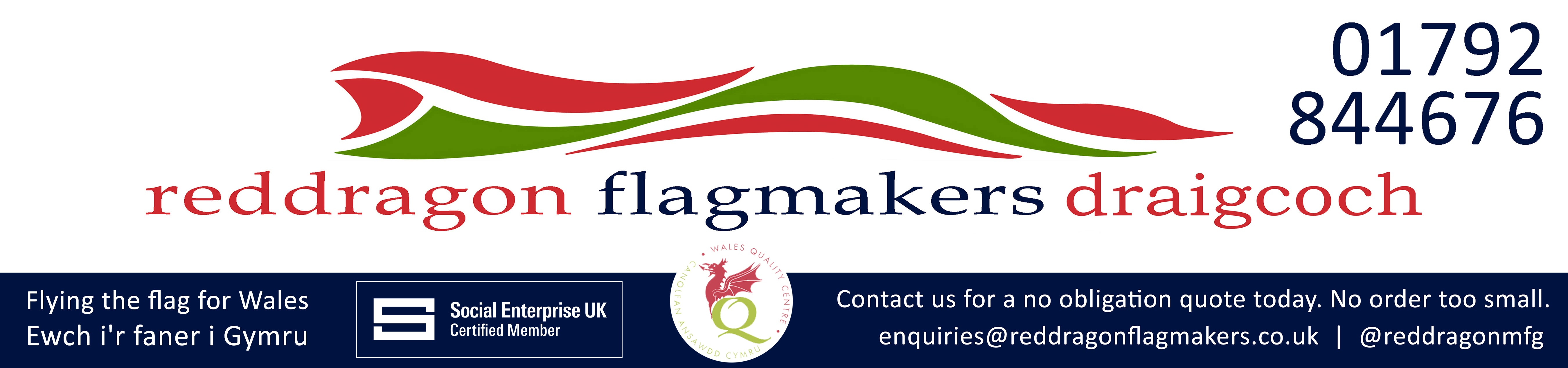 Red Dragon Flagmakers is an accredited member of the Wales Quality Centre