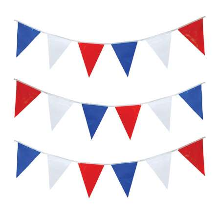 Red white and blue ripstop bunting