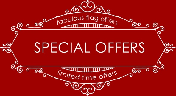 Red Dragon Flagmakers have lots of special offers and reduced products to tempt you with 365 days of the year.