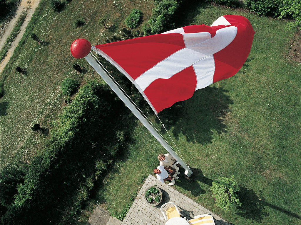 Installed View of Flag and Pole