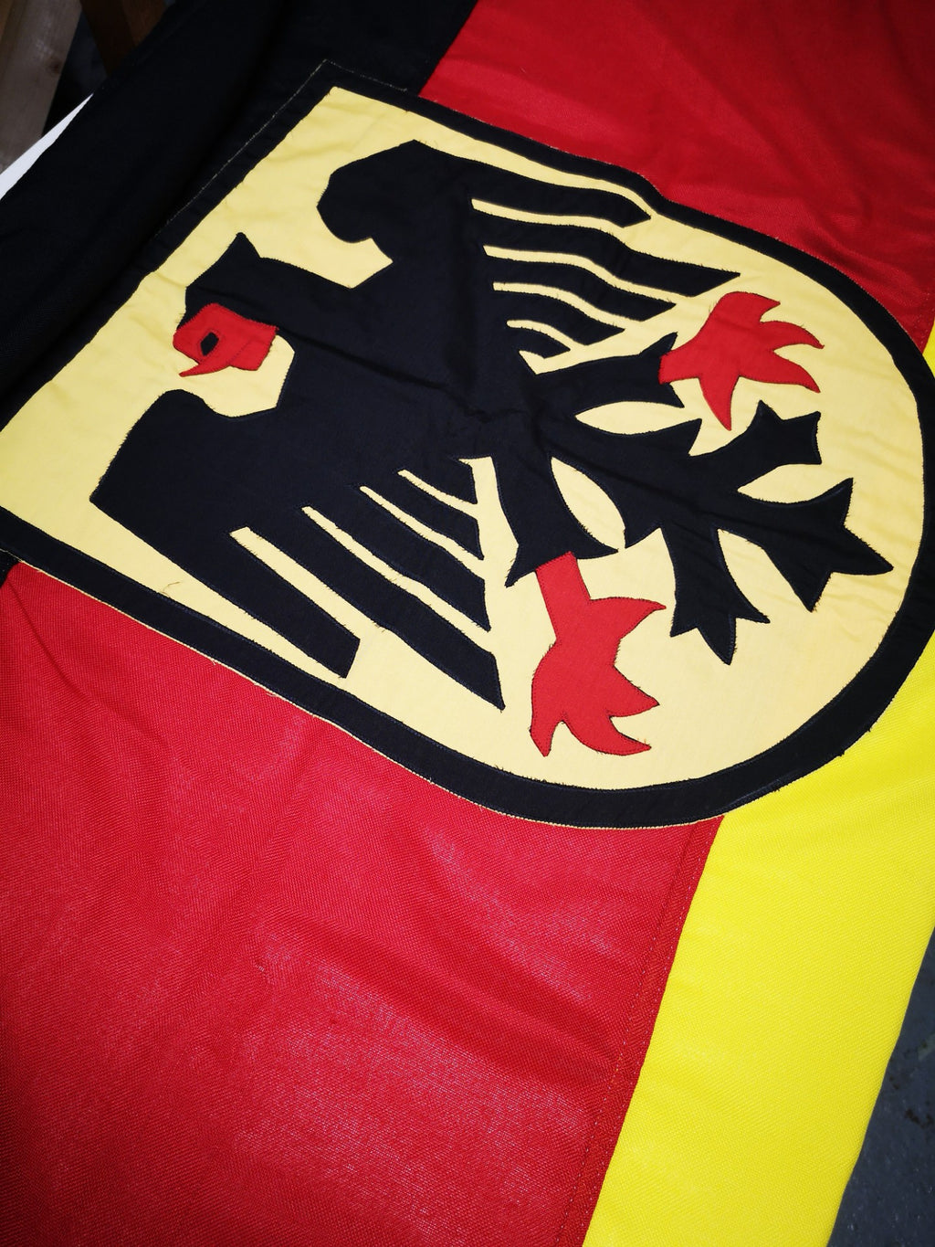 German flag with eagle