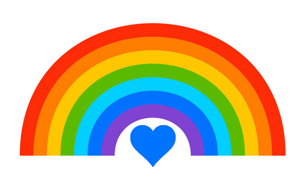 NHS thank you (rainbow and heart)