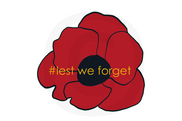 Poppy on white / lest we forget