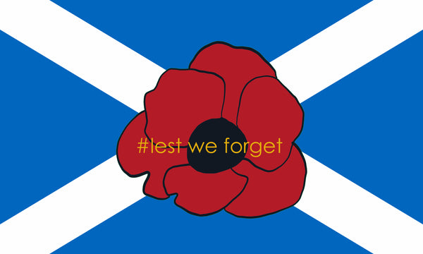 Scotland saltaire - Poppy / lest we forget