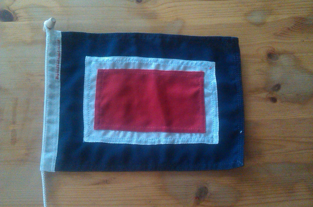 Signal Code Flag Whiskey - Red Dragon Flagmakers