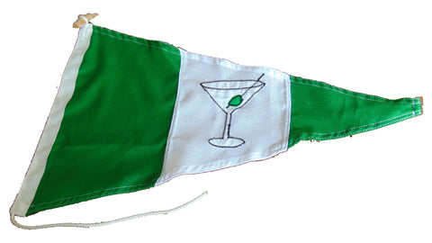 Gin pennant (Martini gin with olive and stick)