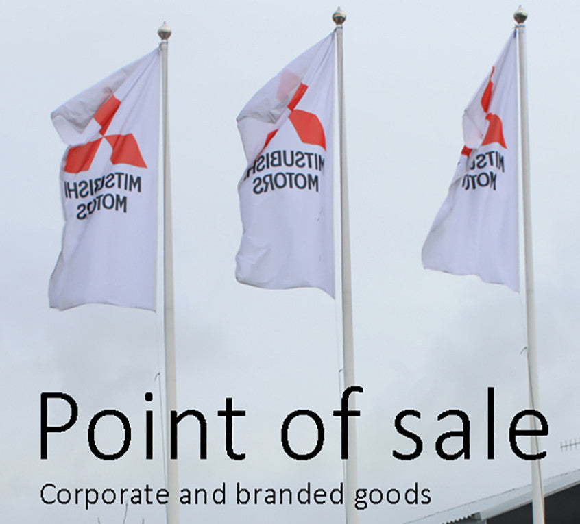 Point of sale branded flags