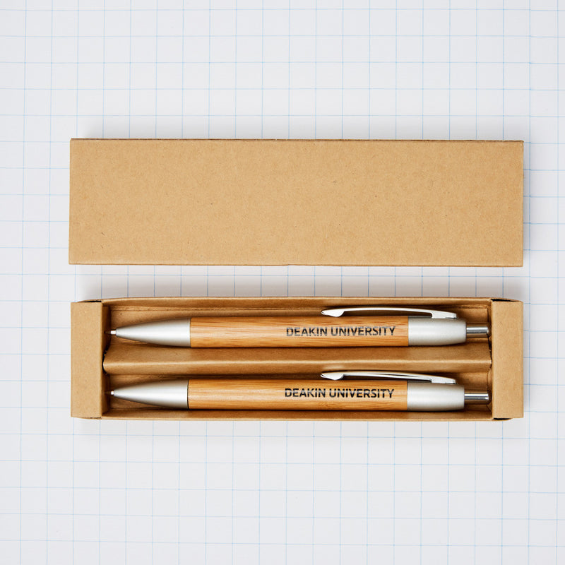Bamboo pen/pencil set