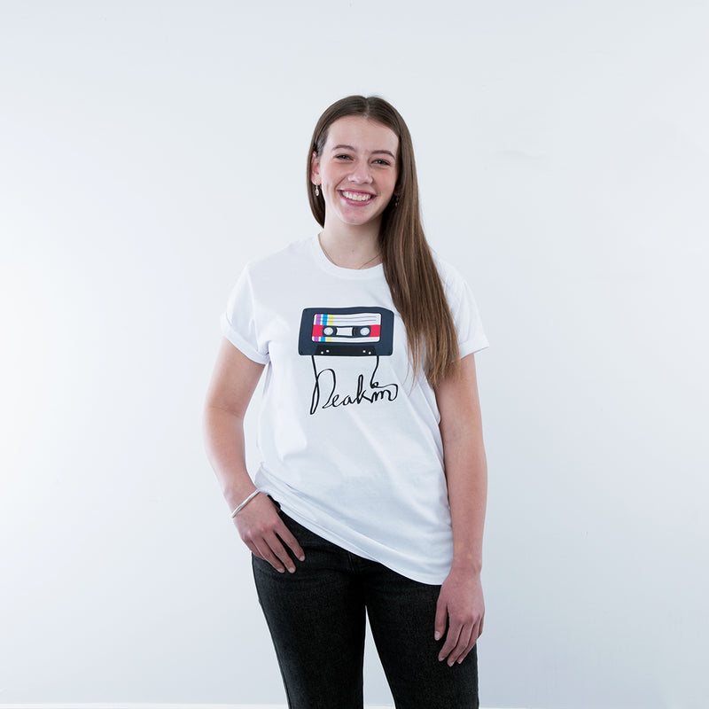 Vintage Cassette Ladies T Shirt