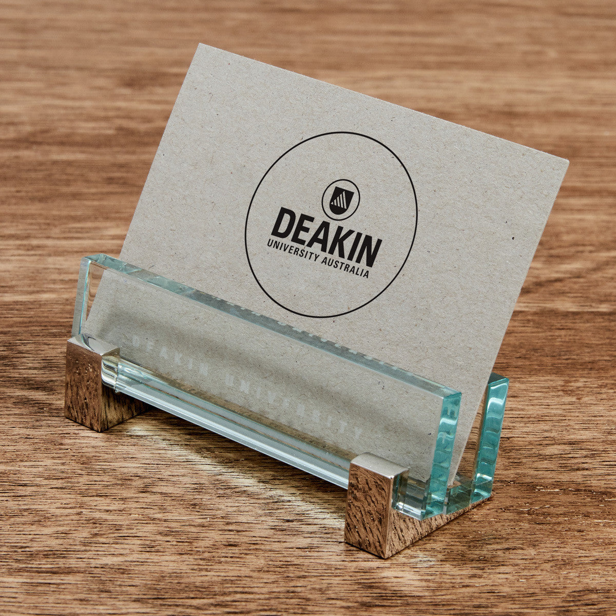Glass business card holder deakin university shop glass business card holder reheart Gallery