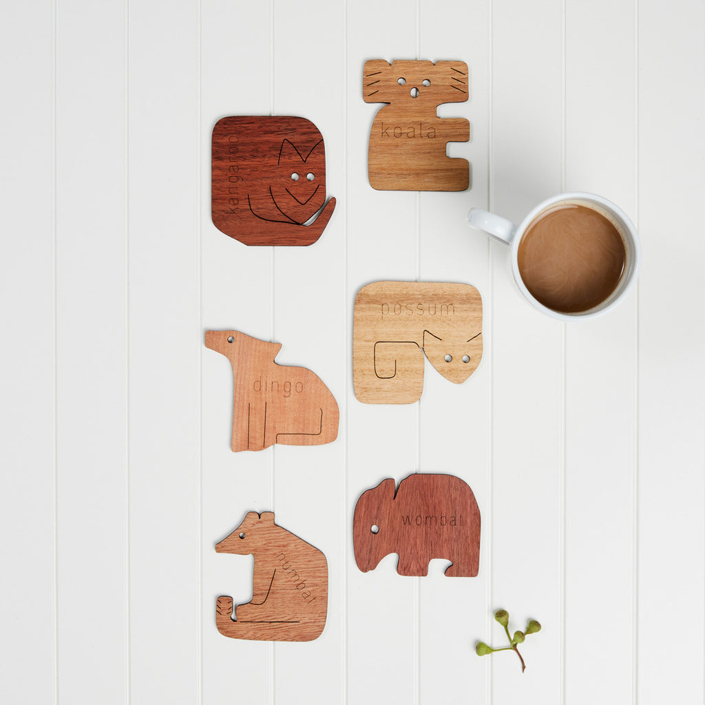 Coasters - animal shapes