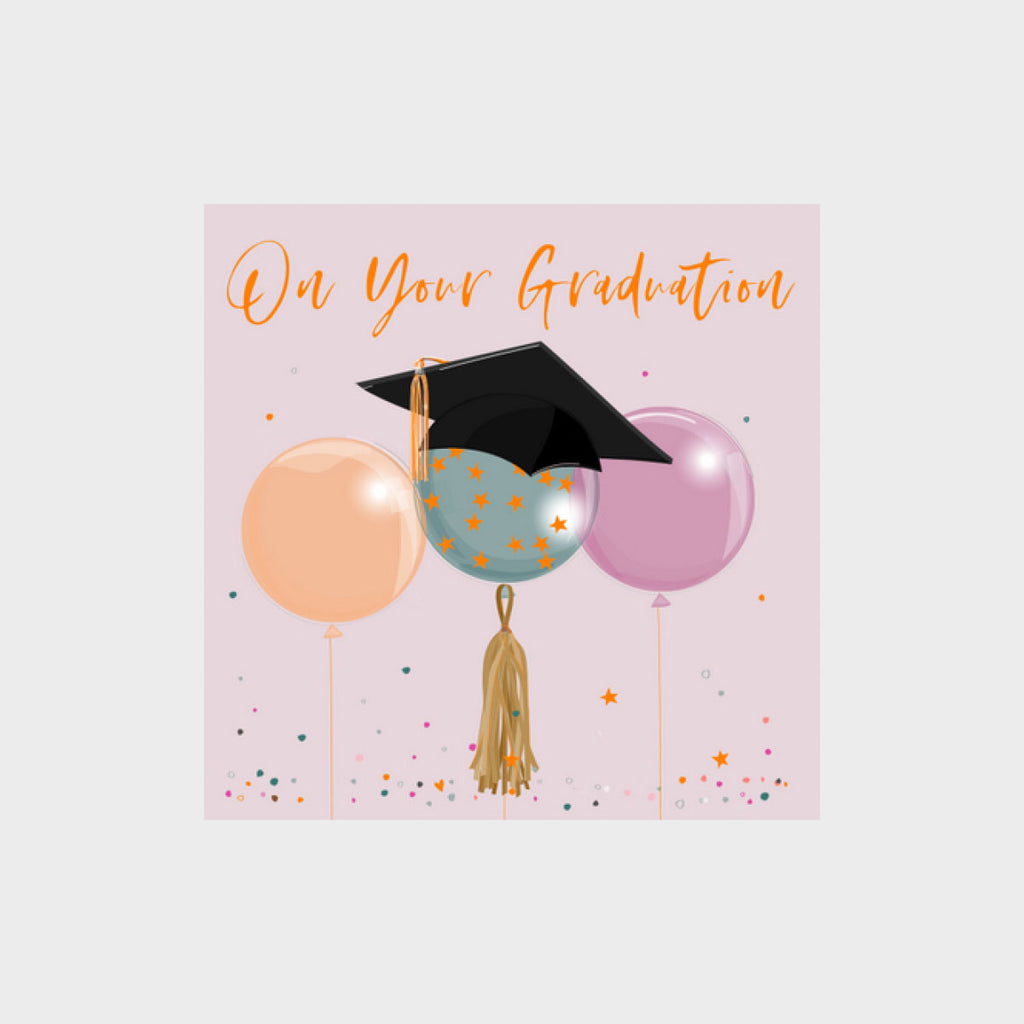 Graduation Card - Balloons