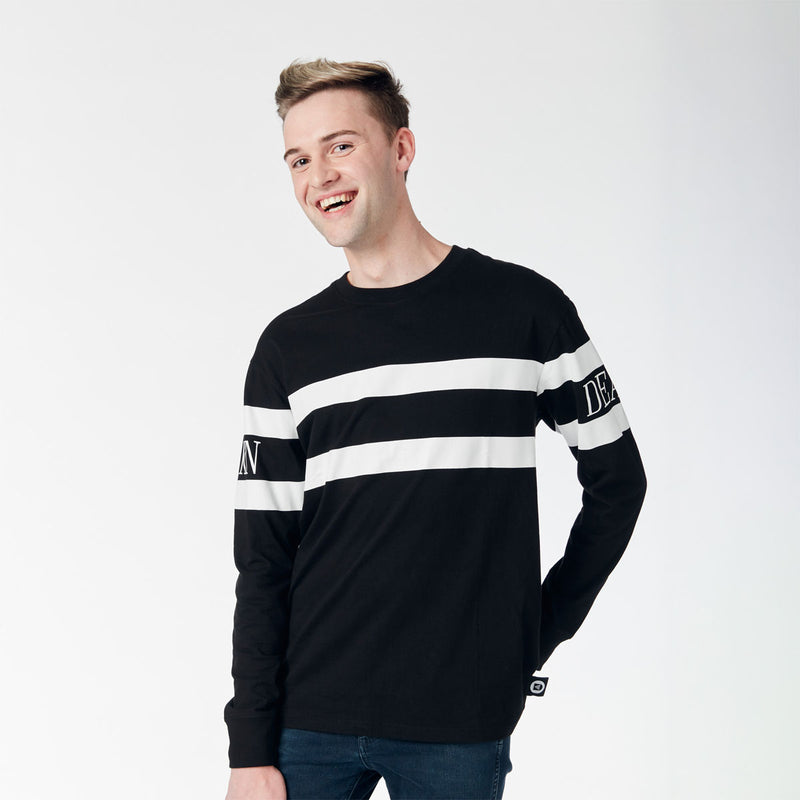 Long Sleeve Tee - Black/White stripes
