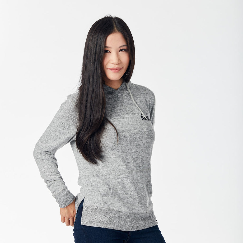Ladies Soft Touch Hoodie - Grey Marle