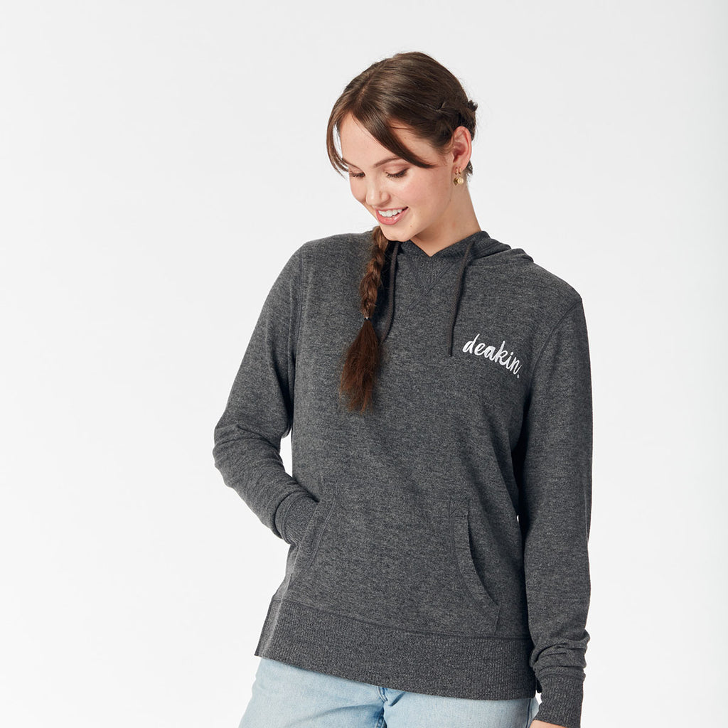 Ladies Soft Touch Hoodie - Black Marle