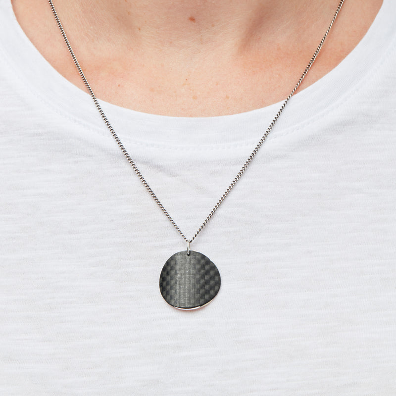 Carbon Fibre Pendants - Round Disc
