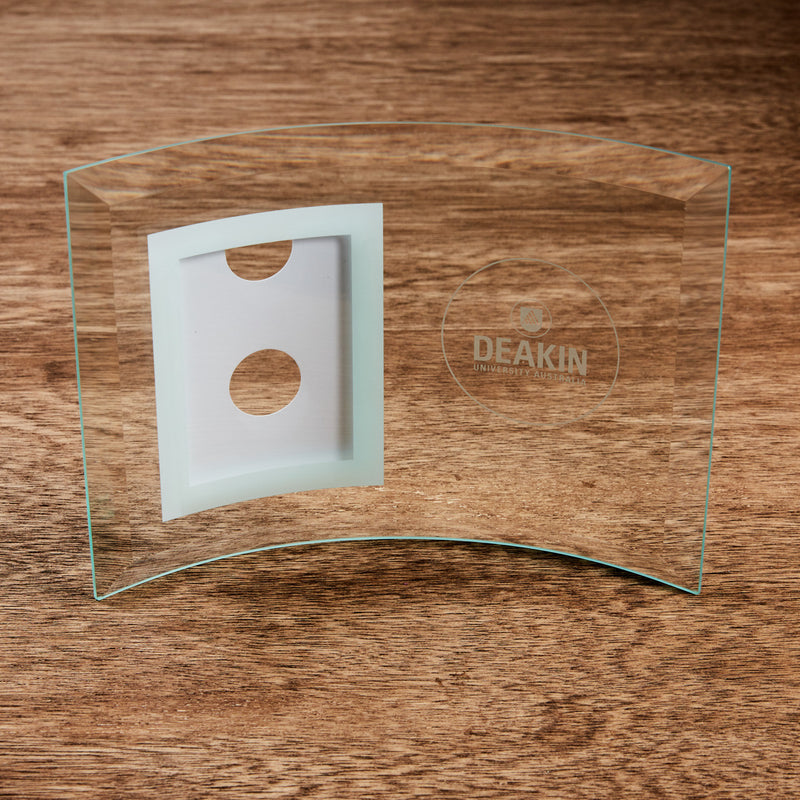 Glass curved frame