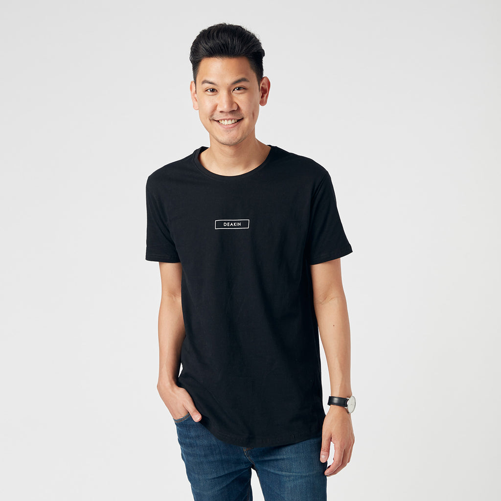 Unisex Stacked Logo Tee - Black