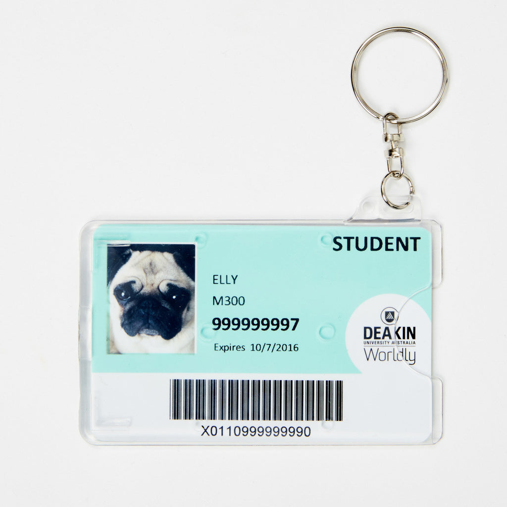 ID Card Holder - Perspex Keyring