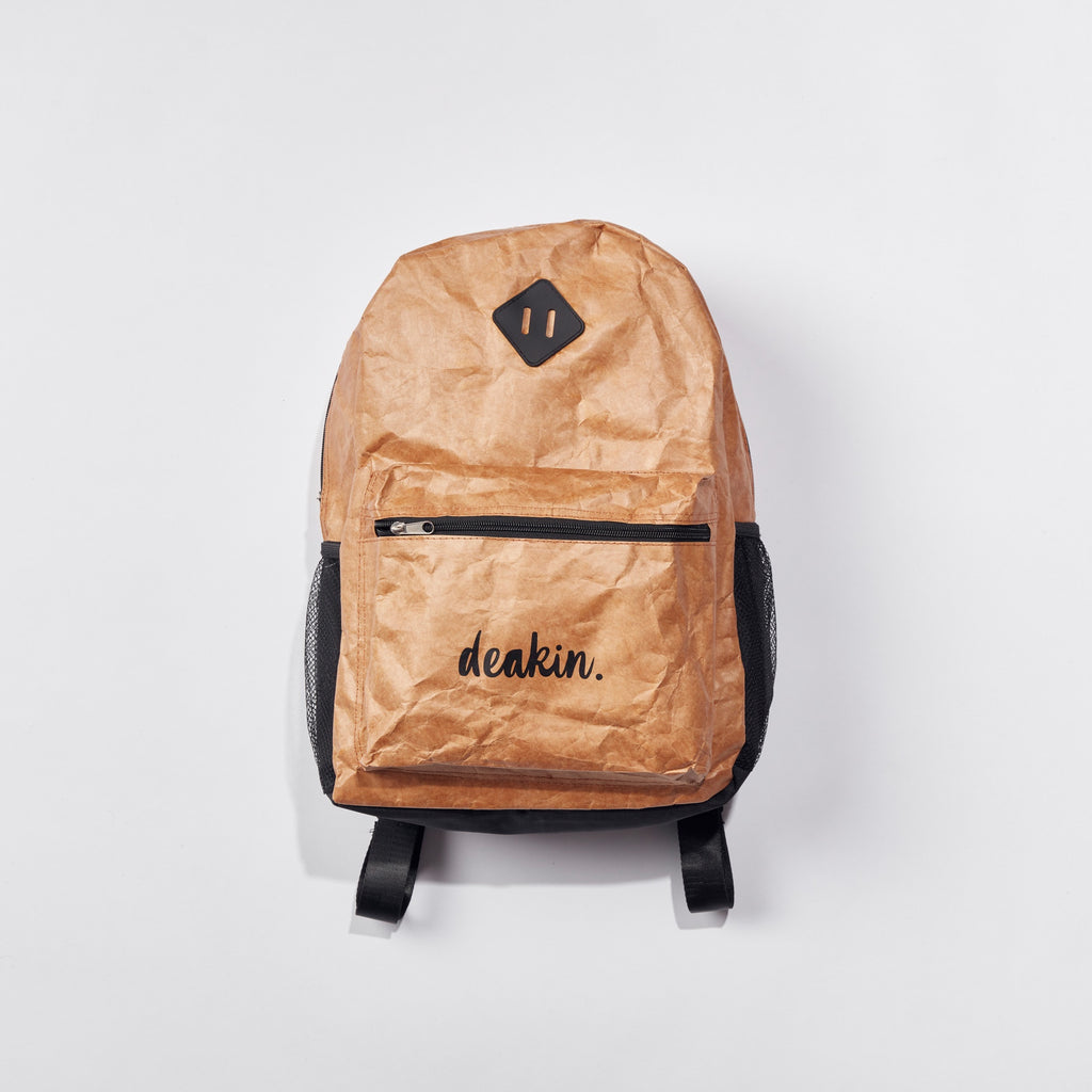 Brown paperbag look backpack