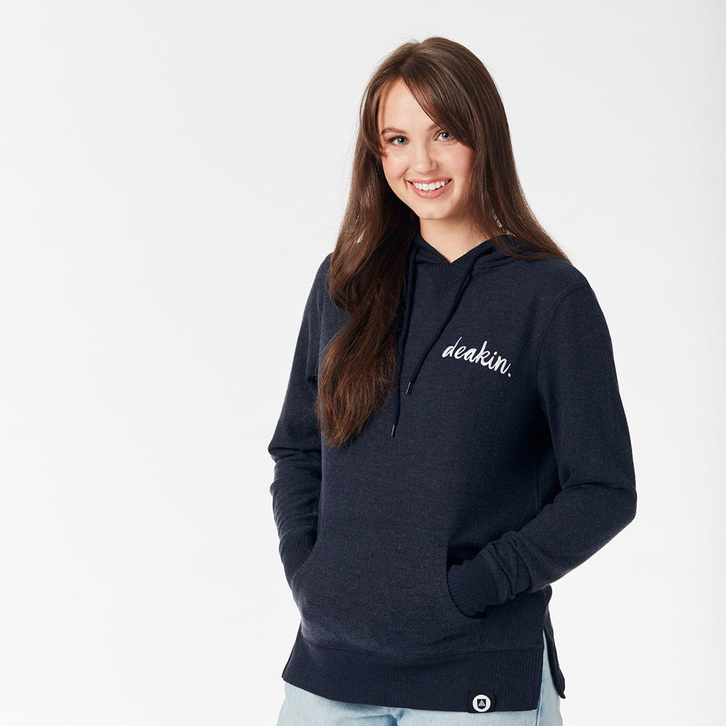 Ladies Soft Touch Hoodie - Blue Marle