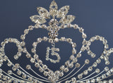 Quinceanera 15 Birthday Tiara Crystal Princess 1337F9