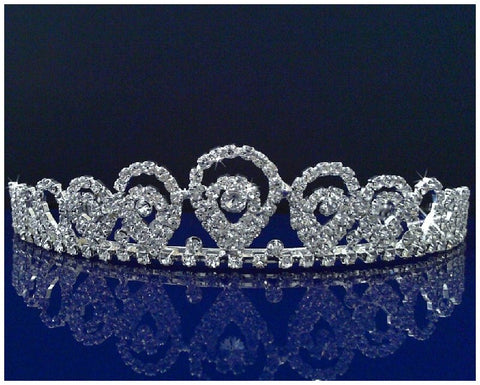 SC Rhinestone Bridal Wedding Prom Costume Tiara Crown 1478