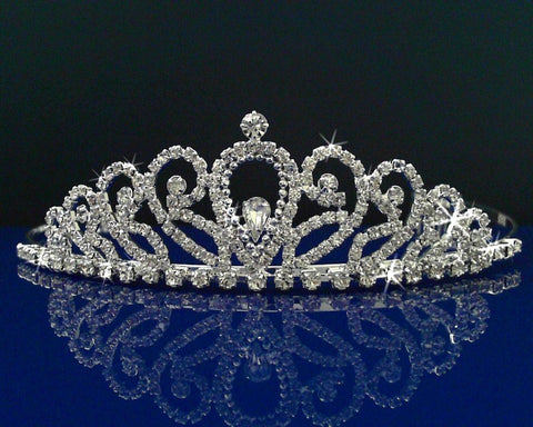 SparklyCrystal Wedding Prom Tiara With Crystal Arches 30048