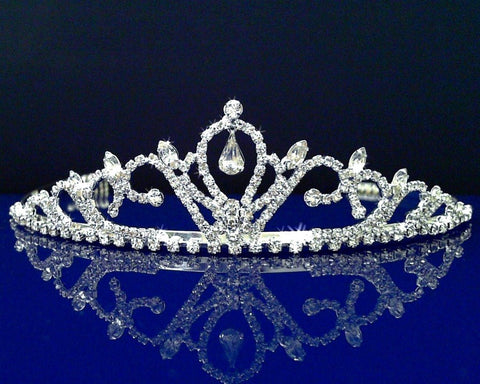 SparklyCrystal Bridal Wedding Prom Tiara With Teardrop Crystal 44468