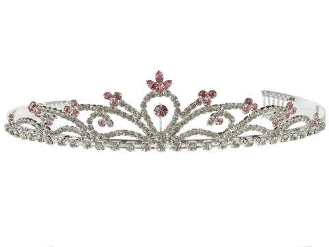 SC Rhinestone Crystal Prom Bridal Wedding Tiara Crown Headband 5064