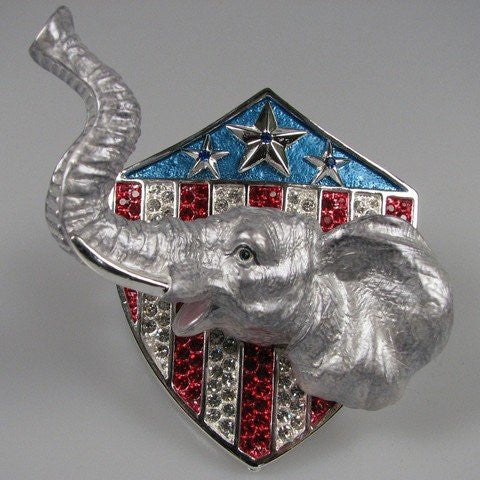 Crystal Jeweled Trinket Box - Elephant's Head J529
