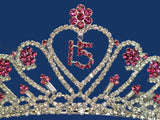 Quinceanera 15 Birthday Tiara Crystal Princess 5204F7