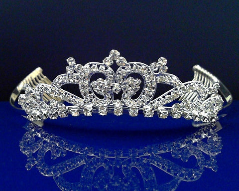 Rhinestones Crystal Wedding Bridal Prom Pageant Princess Costume Tiara Crown 5723Lb