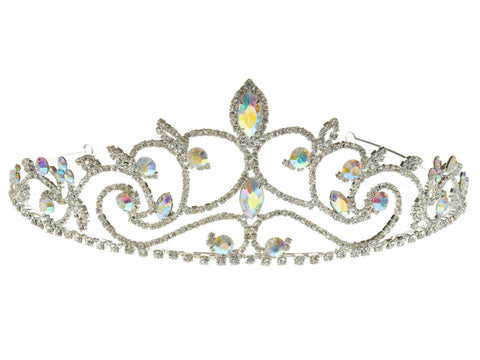 Rhinestone Aurora Crystal Prom Bridal Wedding Tiara Crown 6199