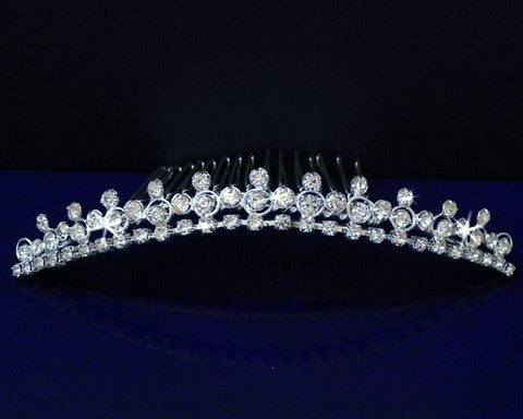 SC Bridal Wedding Tiara Comb With Round Crystals 71575