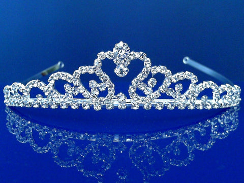SC Bridal Tiara,Princess Tiara With Crystal Loops C6736