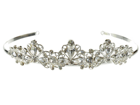 SC Rhinestone Crystal Prom Bridal Wedding Tiara Crown Headband C8666