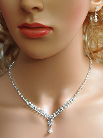 Bridal Crystal Necklace Set N1D56