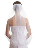 SparklyCrystal Women's Wedding Veil 1 T Cut Edge Elbow Length VE7A2
