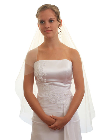 SparklyCrystal Women's Bridal Wedding Veil 2 T Cut Edge Fingertip Length VE8B3