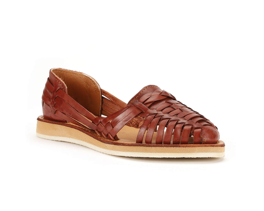 Natalia Braided Huarache Brandy