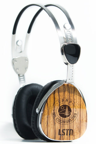 CNC Engraved Real Wood LSTN Headphones