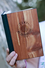 CNC Engraved Real Wood Woodchuck Notebook