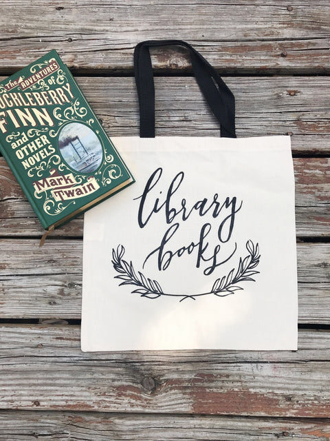 Library Book Tote Bag