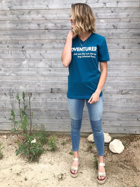 Adventurer Tee in Teal - RESTOCKED