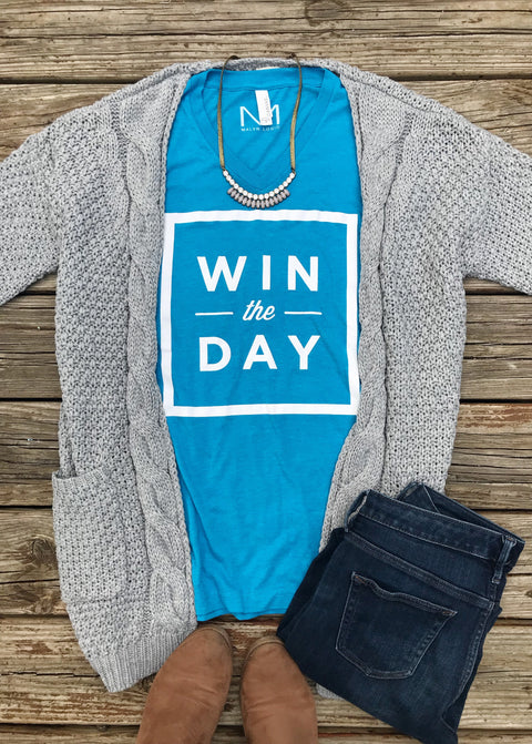 Win The Day Tee...Because Cancer Sucks