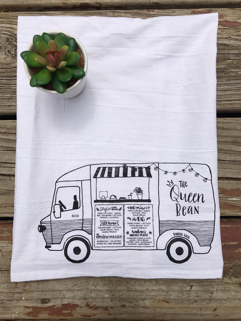 Taco Truck Tea Towel
