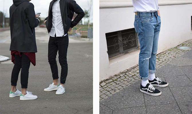 trendy mens shoes sneakers festival adidas vans white black fashion modern streetwear