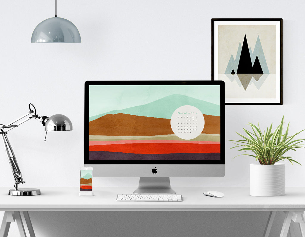 Desktop Calendar and Smartphone Background for November 2017